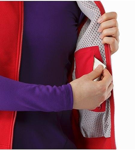 Kyanite Vest Women's Radicchio Internal Pocket 2