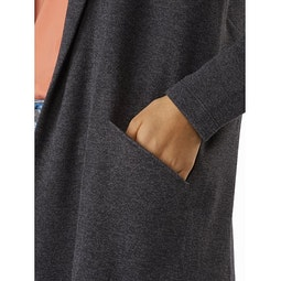 Laina Cardigan Women's Carbon Copy Heather Hand Pocket