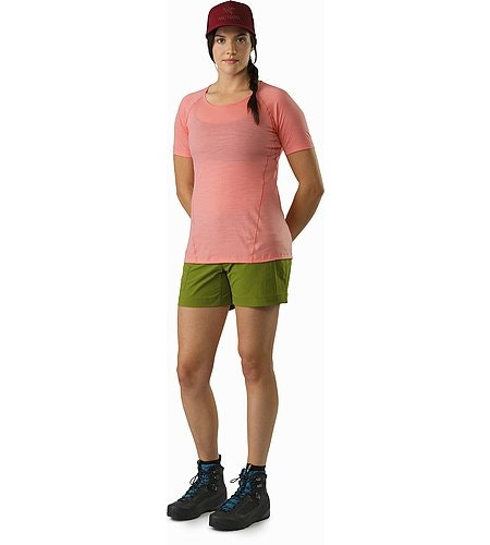 Lana Shirt SS Damen Lamium Pink Vorderansicht