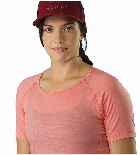 Lana Shirt SS Damen Lamium Pink Ausschnitt