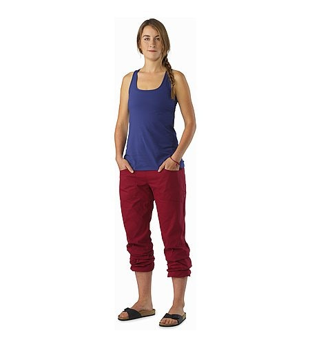 Levita Pant Women's Scarlet Cinched On Calf