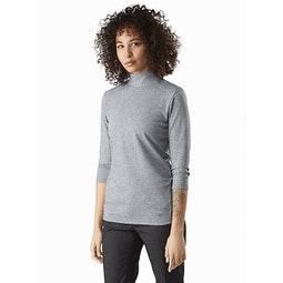 Lumin Mock Neck Women's Aeroscene Heather Front View