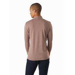 Lumin Mock Neck Women's Jute Heather Back View