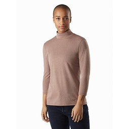 Lumin Mock Neck Women's Jute Heather Front View