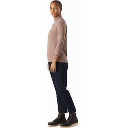 Lumin Mock Neck Women's Jute Heather Full View
