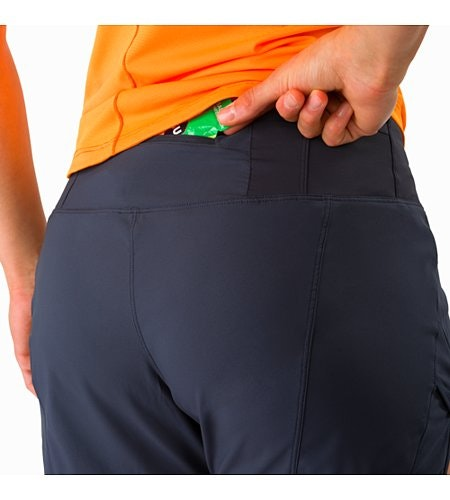 Lyra Short Women's Black Sapphire Security Pocket