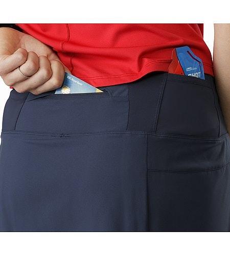 Lyra Skort Women's Black Sapphire External Back Pockets