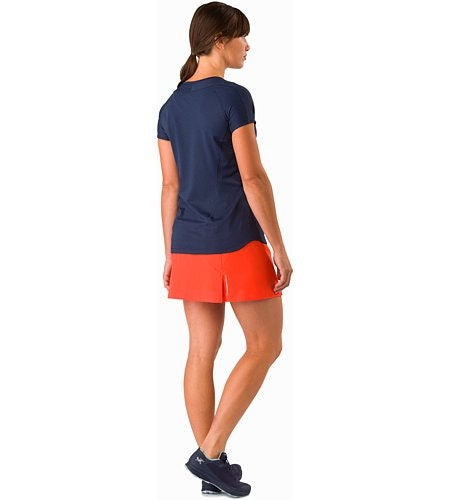 Lyra Skort Women's Hard Coral Back View