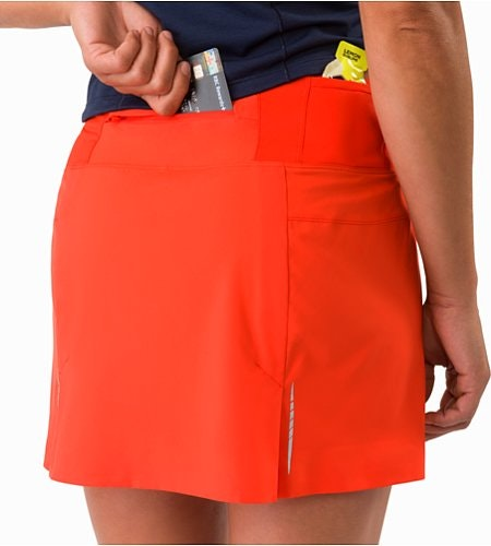 Lyra Skort Women's Hard Coral External Pocket Back