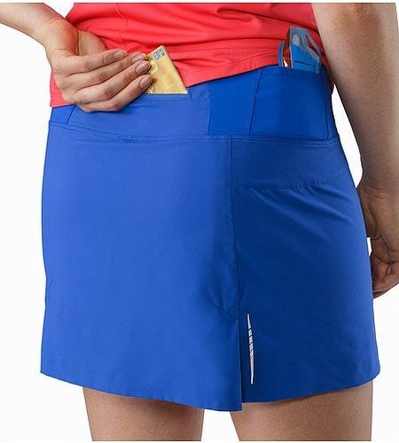 Lyra Skort Women's Somerset Blue External Pocket Back
