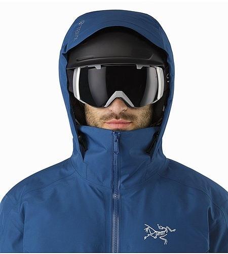 Macai Jacket Triton Helmet Compatible Hood Front View