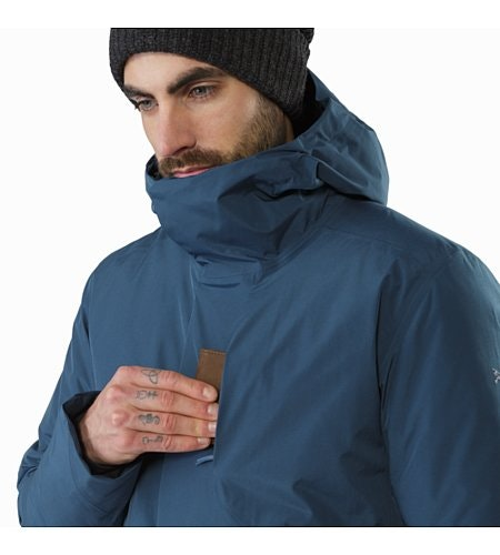 Magnus Coat Hecate Blue Chest Pocket