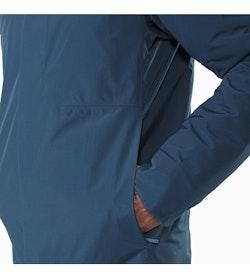 Magnus Coat Hecate Blue Hand Pocket