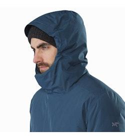 Magnus Coat Hecate Blue Hood Up