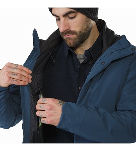 Magnus Coat Hecate Blue Internal Security Pocket