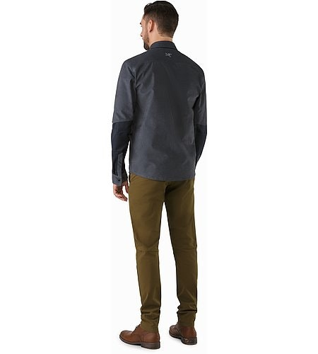 Merlon Shirt LS Heron Back View
