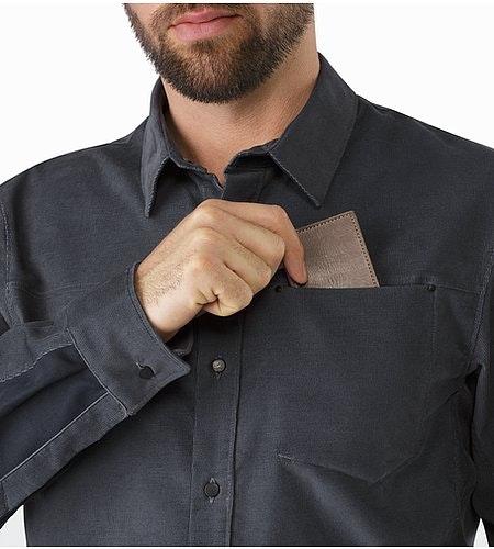Merlon Shirt LS Heron Chest Pocket