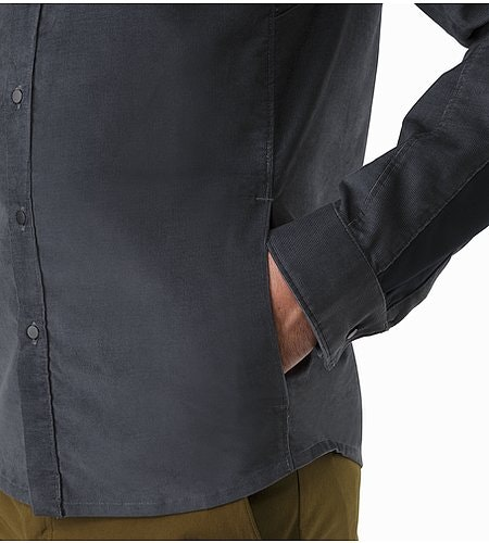 Merlon Shirt LS Heron Hand Pocket