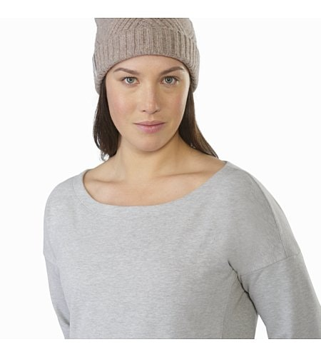 Mini-Bird Sweatshirt Women's Light Grey Heather Neckline