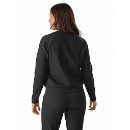 Momenta Pullover Women's Black Heather Back View