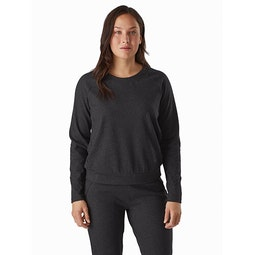 Momenta Pullover Women's Black Heather Front View