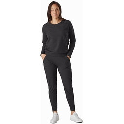 Momenta Pullover Women's Black Heather Full View