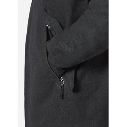 Monitor Down TW Coat Charcoal Heather Hand Pocket