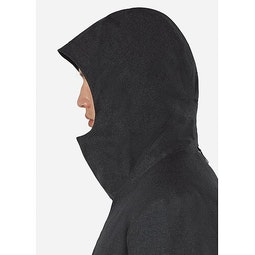 Monitor Down TW Coat Charcoal Heather Hood Up