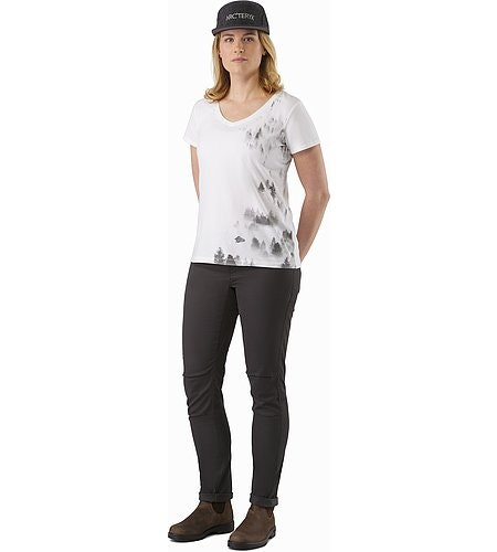 Morning V-Neck T-Shirt Women's White Front View