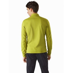 Motus AR Zip Neck LS Glade Heather Back View