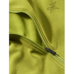 Motus AR Zip Neck LS Glade Heather Fabric