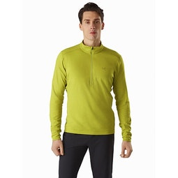 Motus AR Zip Neck LS Glade Heather Front View
