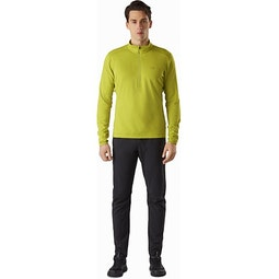 Motus AR Zip Neck LS Glade Heather Full View