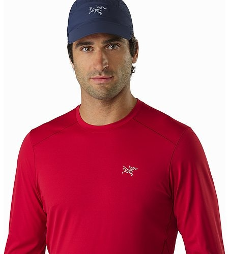Motus Crew Neck Shirt LS Red Beach Neckline
