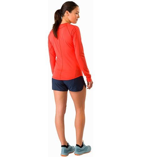 Motus Crew Neck Shirt LS Women's Aurora Back View