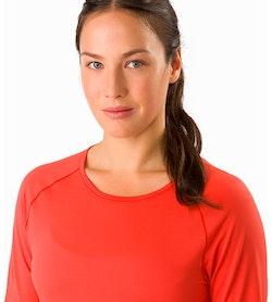 Motus Crew Neck Shirt LS Women's Aurora Neckline