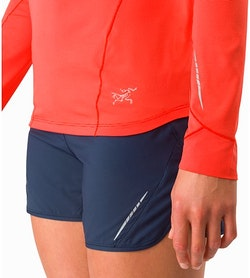 Motus Crew Neck Shirt LS Women's Aurora Reflective Features