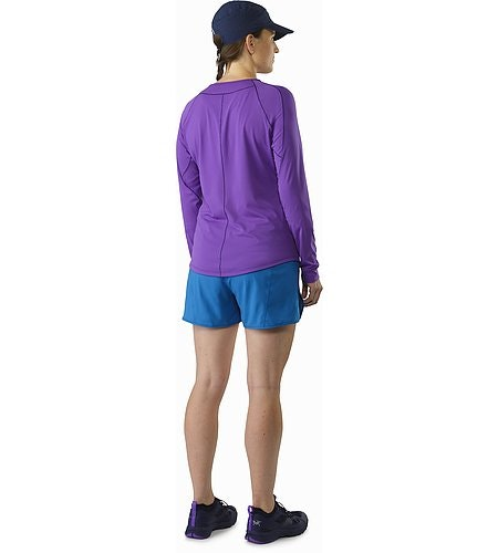 Motus Crew Neck Shirt LS Women's Mauveine Back View