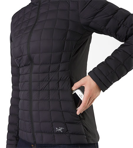 Narin Jacket Women's Black Hand Pocket