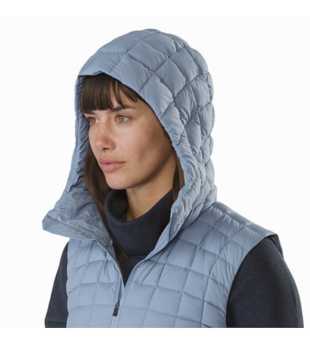 Narin Vest Women's Lunar Mist Hood Up