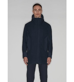 Naviar AR Coat Dark Navy Front View