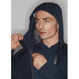 Naviar AR Coat Dark Navy Hood Adjuster