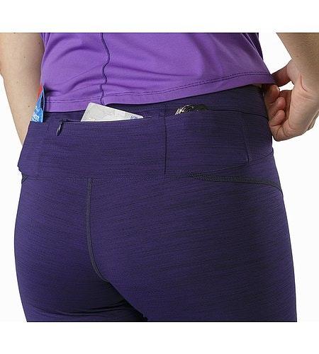 Nera 3/4 Tight Women's Dark Azalea External Back Pockets