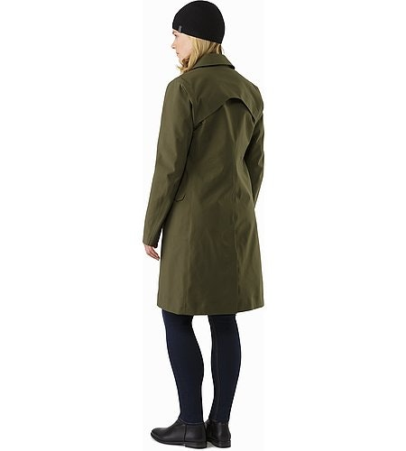 Nila Trench Coat Women's Banyen Back View