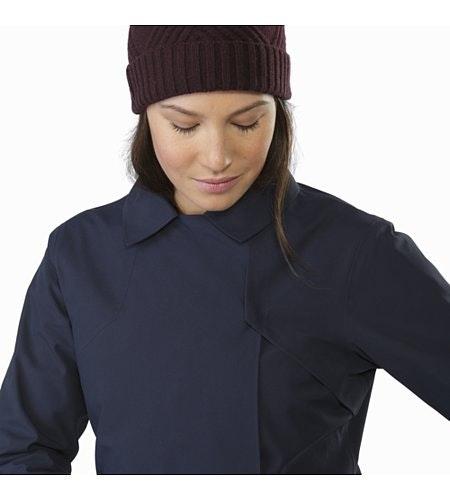 Nila Trench Coat Women's Kingfisher Closed Collar