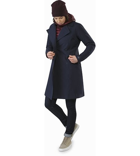 Nila Trench Coat Women's Kingfisher Front View
