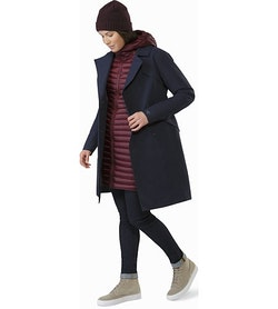 Nila Trench Coat Women's Kingfisher Open View