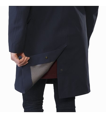 Nila Trench Coat Women's Kingfisher Rear Vent Adjuster