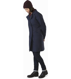 Nila Trench Coat Women's Kingfisher Side View