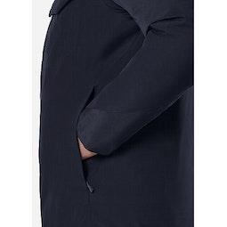 Node Down Jacket Deep Navy Hand Pocket